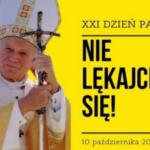 Plakat XXI Dnia Papieskiego pod hasłem NIE LĘKAJCIE SIĘ